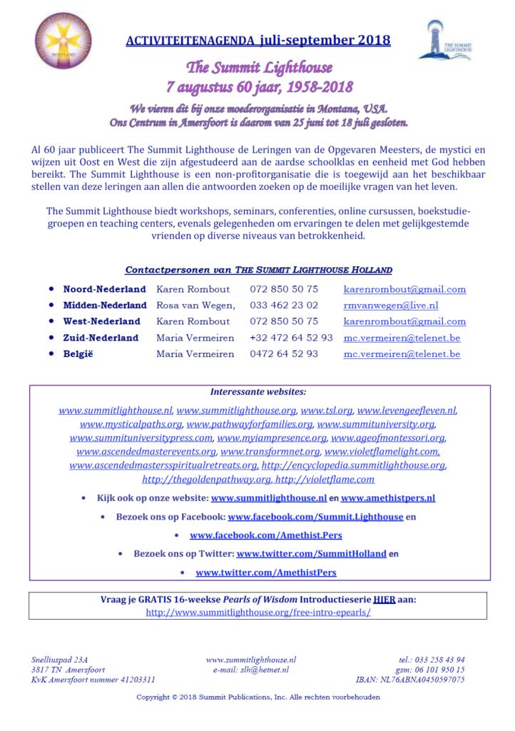 Kwartaal Agenda SLH juli-sept 2018