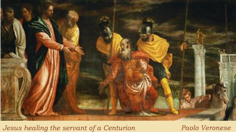 Jesus healing Servant Centurion